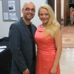 Maria Taytakova with Csaba Némedi (stage director), Rigoletto 2013