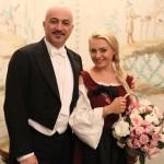 Maria Taytakova with Hooman Khalatbari (conductor), Elisir d'amore 2015, Schloss Kirchstetten, Austria