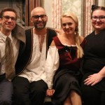 Maria Taytakova (Adina) with Mark Zimmermann (bariton), Csaba Némedi (stage director) and Etelka Polgár (stage director assistant), Elisir d'amore 2015, Schloss Kirchstetten, Austria