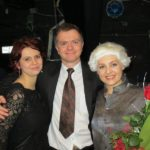 Maria Taytakova with Linda Keprtová (stage director) and Marek Štryncl (conductor)