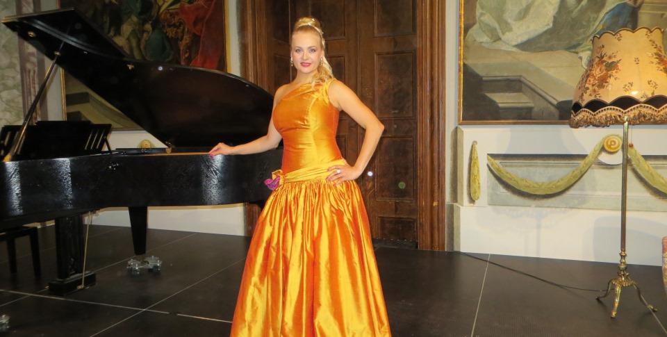 """Maria Taytakova at the concert """"Le Donne di Donizetti"""", Klassik Festival Schloss Kirchstetten, Austria, 2017"""