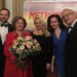 Maria Taytakova with Edita Grúberová at Bratislava Personalities Award 2018