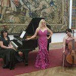 Concert trio in Bojnice castle 2019, Maria Taytakova (soprano), Lubomíra Verbovská (violonchello) and Beáta Tomčányiová (piano)